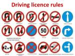 d riving licence rules