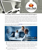 get familiar with the services of live tech
