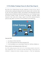 ccna online training classes by real time experts