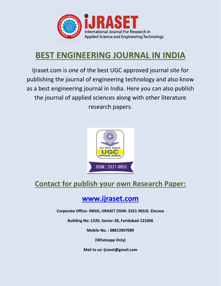 best engineering journal in india n.