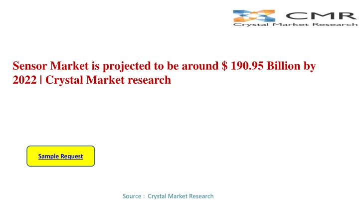 sensor market is projected to be around 190 95 billion by 2022 crystal market research n.