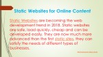 static websites for online content