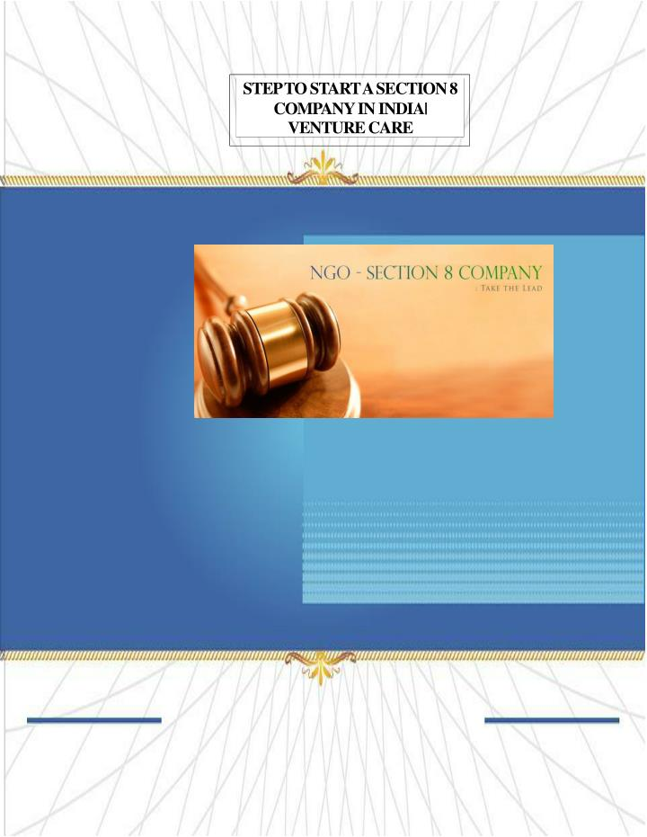step to start a section 8 company in india n.