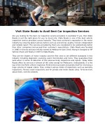 visit state roads to avail best car inspection