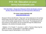 psy 326 education on your terms tutorialrank com 3