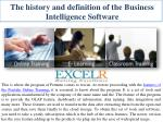 the history and definition of the business