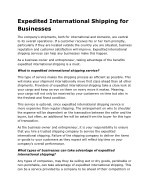 expedited international shipping for businesses