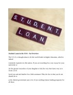 student loans in the usa an overview