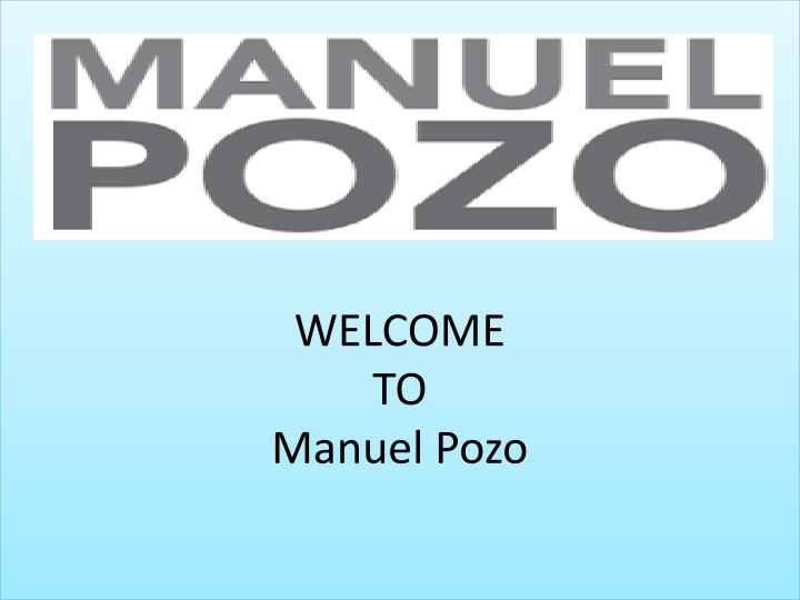 welcome to manuel pozo n.