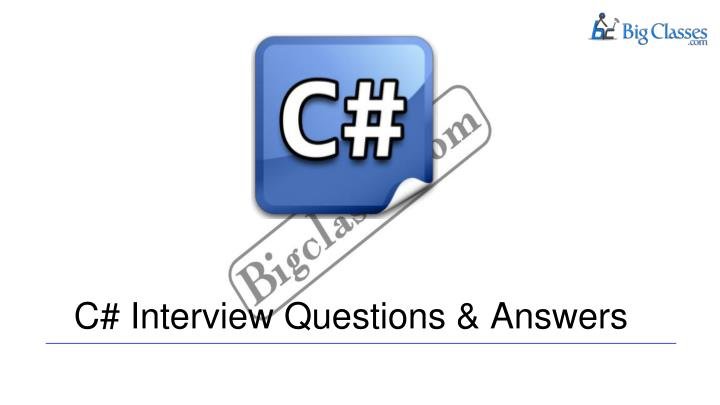 c interview questions answers n.