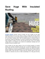 save roofing