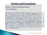 partners technical domain experts sri prakash
