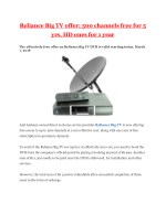 reliance big tv offer 500 channels free for 5