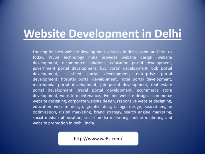 website development in delhi n.