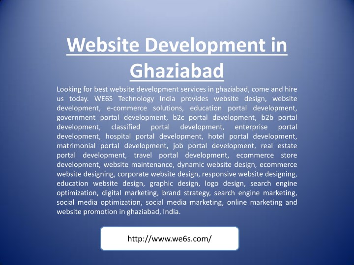 website development in ghaziabad looking for best n.