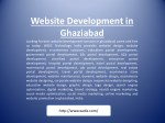 website development in ghaziabad looking for best