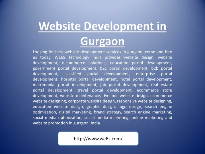 website development in gurgaon looking for best n.