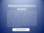 website development in gurgaon looking for best