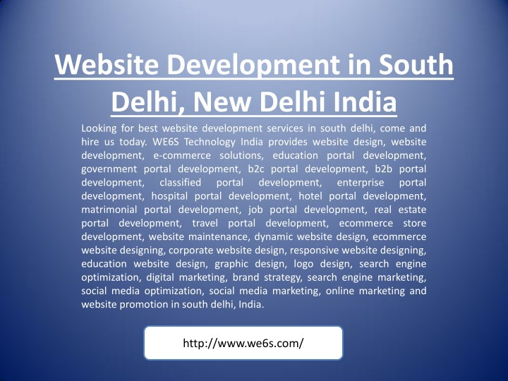 website development in south delhi new delhi n.