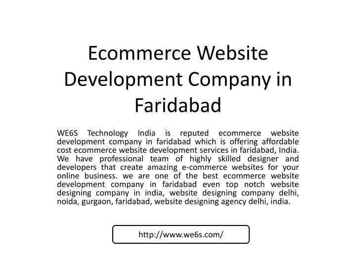 ecommerce website development company in faridabad n.