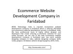 ecommerce website development company in faridabad