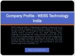company profile company profile we6s technology