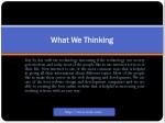 what what we thinking we thinking