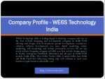 company profile company profile we6s technology