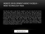 website development agency in delhi we6s