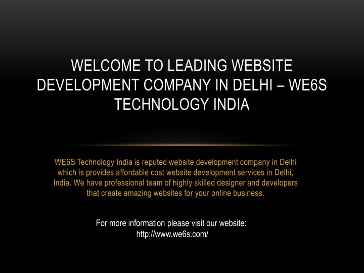 welcome to leading website development company n.