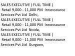 sales executive full time retail