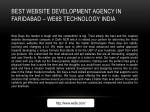best website development agency in faridabad we6s
