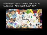 best website development services in faridabad