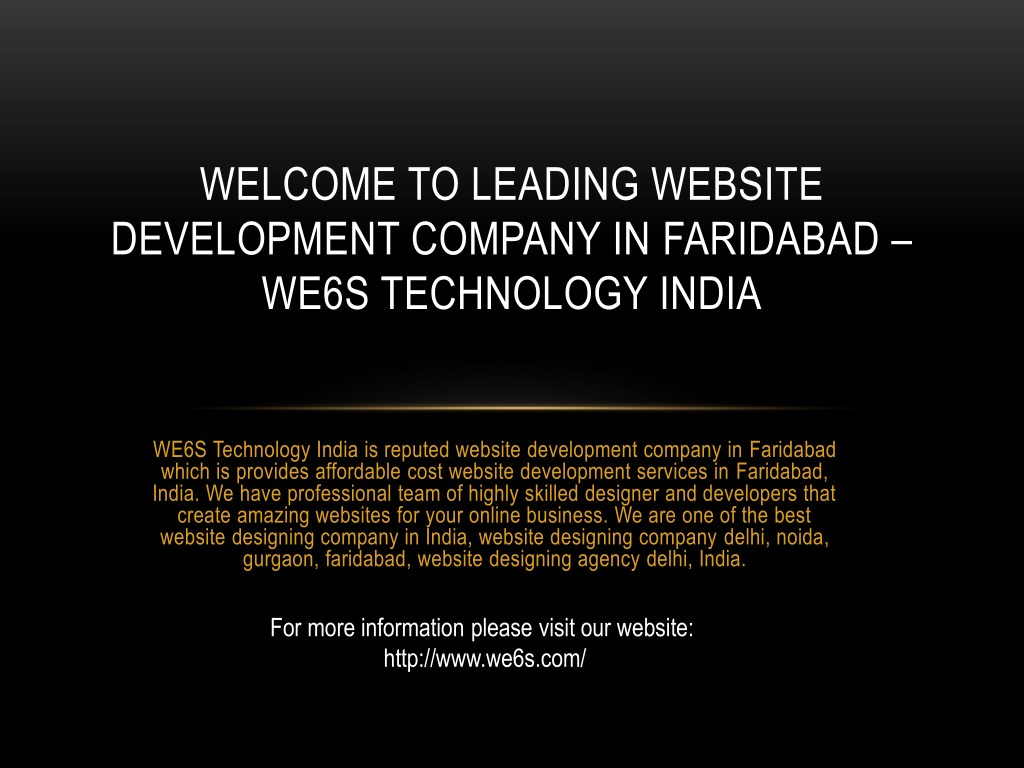 Ppt Website Development Company In Faridabad Powerpoint Presentation Id 7802042