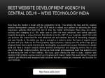best website development agency in central delhi
