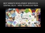best website development services in central