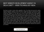 best website development agency in delhi cantt