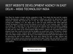 best website development agency in east delhi