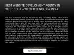 best website development agency in west delhi
