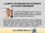 llamar a un abogado de accidente de coche conocedor