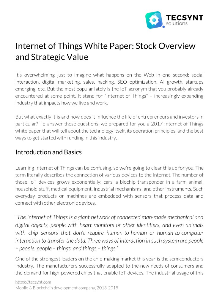 internet of things white paper stock overview n.