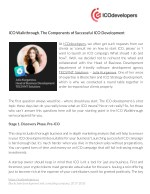 ico walkthrough the components of successful