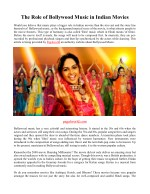 the role of bollywood music in indian movies