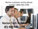 norton customer service phone number 1800 445 2790