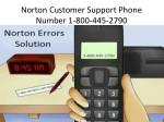 norton customer support phone number 1 800 445 2790