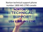 norton technical support phone number 1800 445 2790 canada