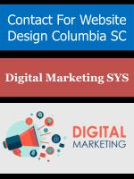 contact for website design columbia sc