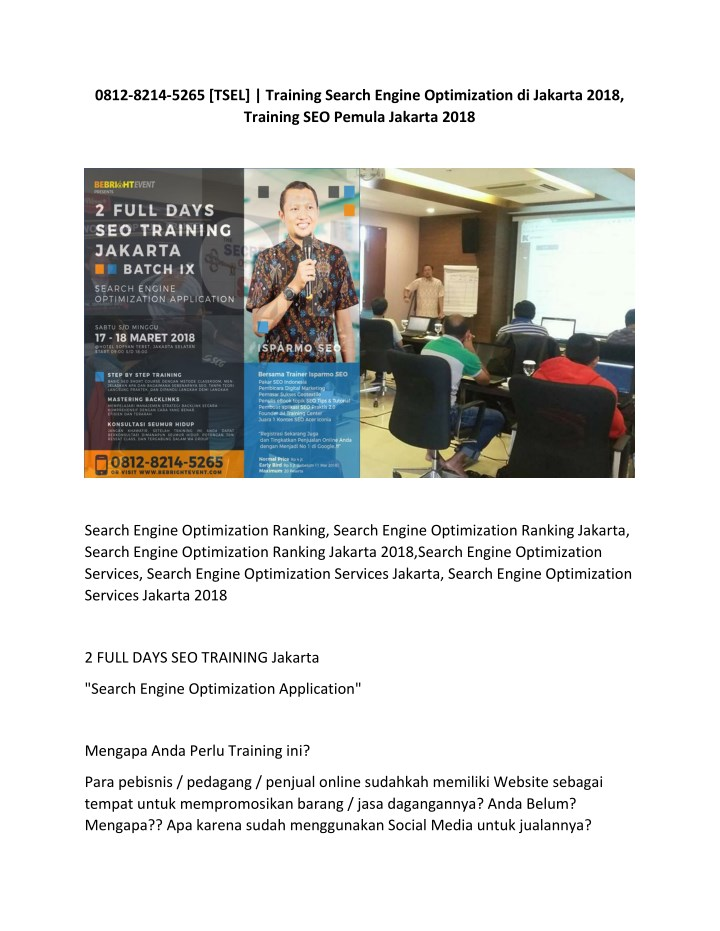 0812 8214 5265 tsel training search engine n.