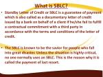 what is sblc standby letter of credit or sblc
