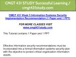 cmgt 431 study successful learning cmgt431study 9